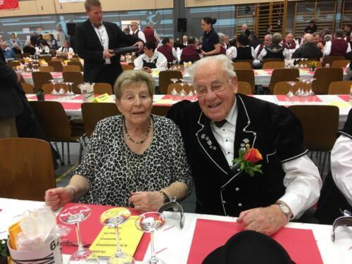 Ehrenveteran Römy mit Gattin Trudi